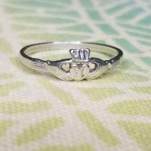Jewelry - 🍀925 Dainty Irish Claddagh🍀 Ring Sterling Silver